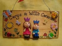 2 character 3d Personalised Wendy House Playhouse Playroom Bedroom Sign Plaque